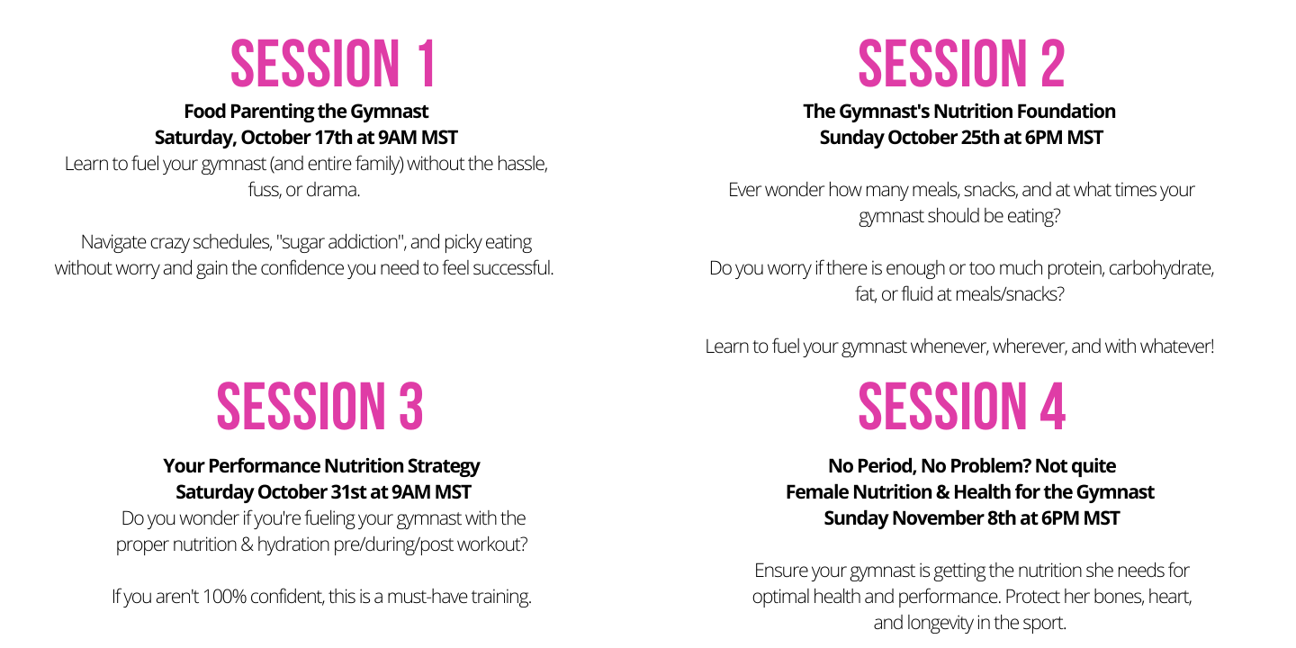Gymnast Nutrition Series for Parents-8