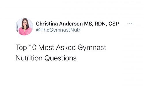 Top 10 Most Asked Gymnast Nutrition Questions