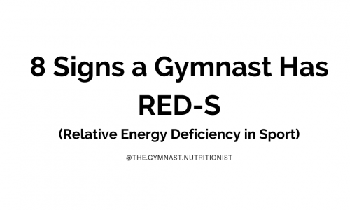 Does Your Gymnast Have Relative Energy Deficiency in Sport (RED-S)?